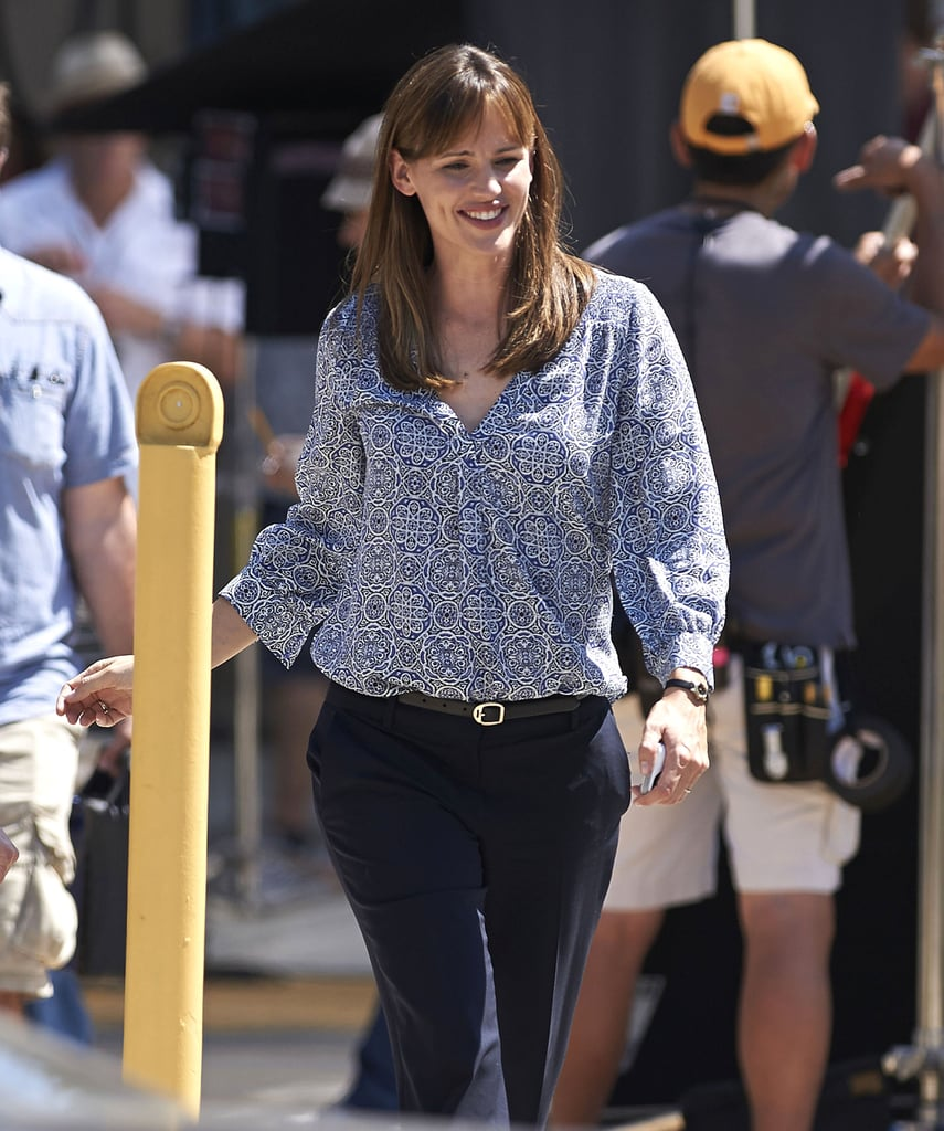 Jennifer Garner put her new bangs on display.