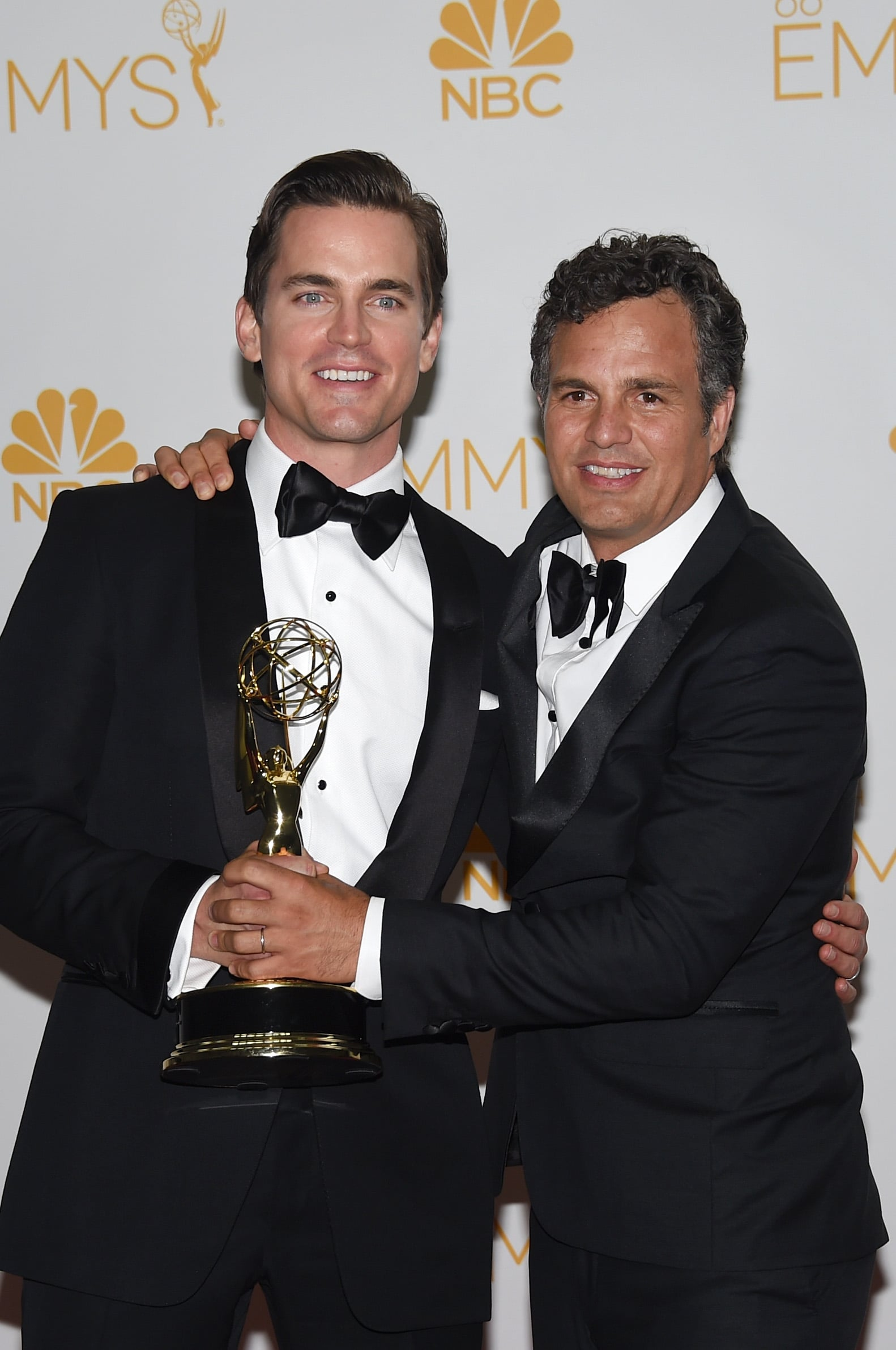 Matt Bomer and Mark Ruffalo celebrated The Normal Heart's Emmy win in the press room.