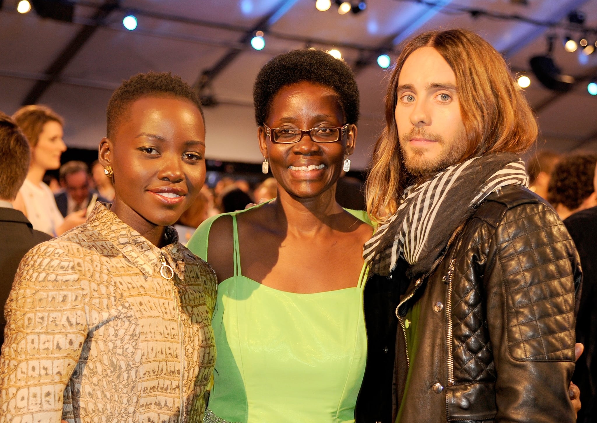 "Jared posed with Lupita Nyong'o and her mom, Dorothy, at the Independent Spirit Awards — he later went on to call Lupita his ""future ex-wife"" during his acceptance speech!"