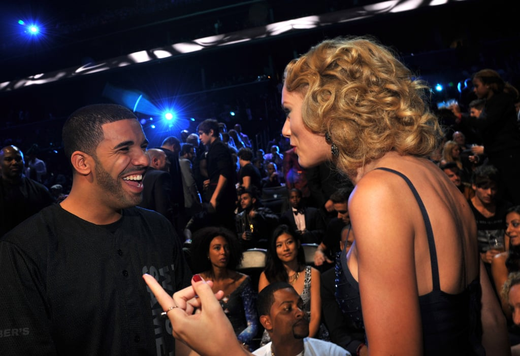 Drake chatted with Taylor Swift at the VMAs.