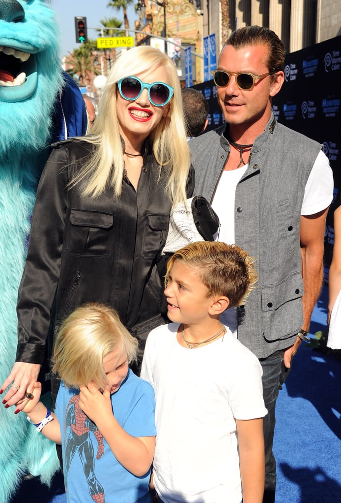 They were all smiles as they took their kids to the premiere of Monsters University in LA in June 2013.