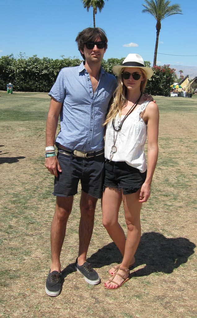 Between his shades and her hat, this pair sets the bar high for festival style.