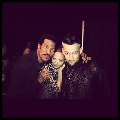 Nicole Richie snapped a photo with her husband, Joel Madden, and her dad, Lionel Richie.