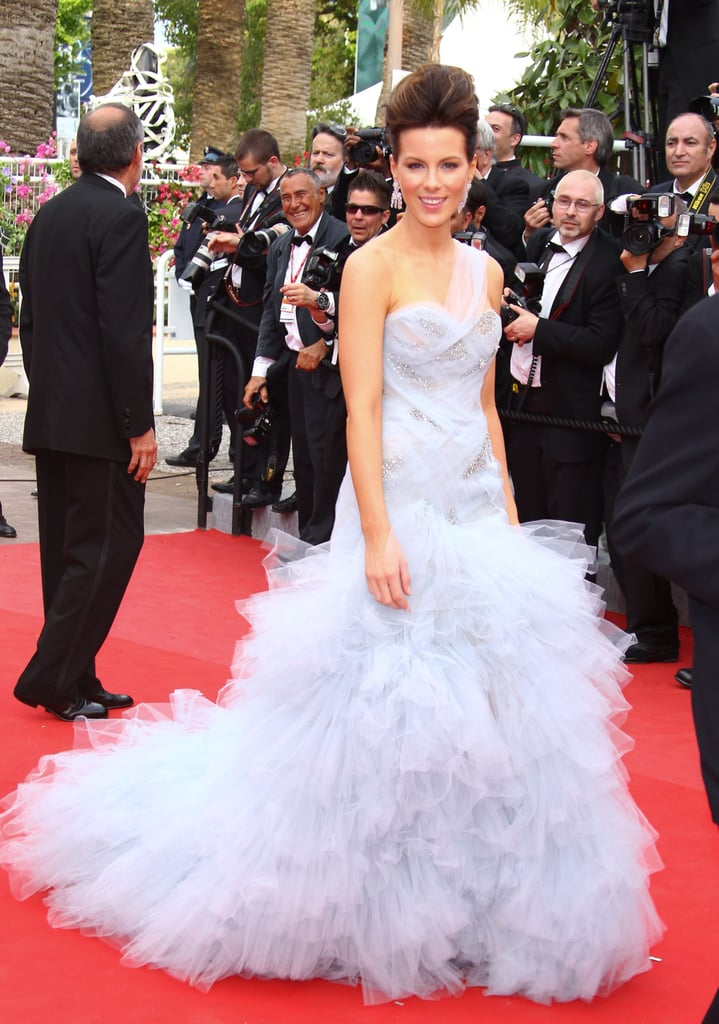 Kate Beckinsale wore a Marchesa gown in 2010 for the Cannes premiere of Robin Hood.