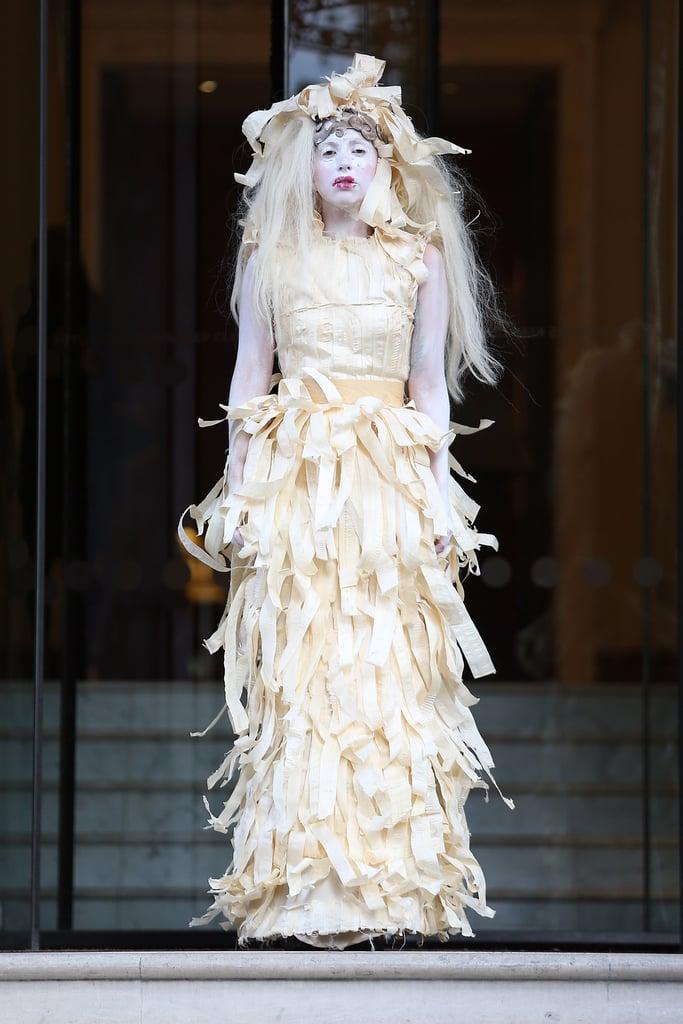Lady Gaga in Shredded Dress in London in 2013