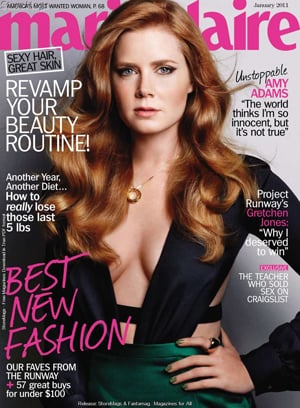 """Amy Adams Covers Marie Claire: """"The S Factor Unlocks Your Inner Erotic Creature"""""""