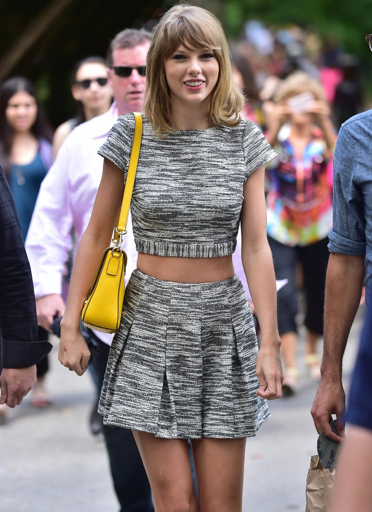 Taylor Swift was all smiles at Central Park in NYC on Thursday.