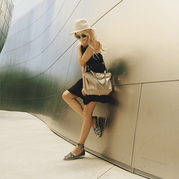 Here's a major tip — when it comes to sporting your neutrals, mix in your leopard prints wherever you can. It works every time. Source: Instagram user peaceloveshea
