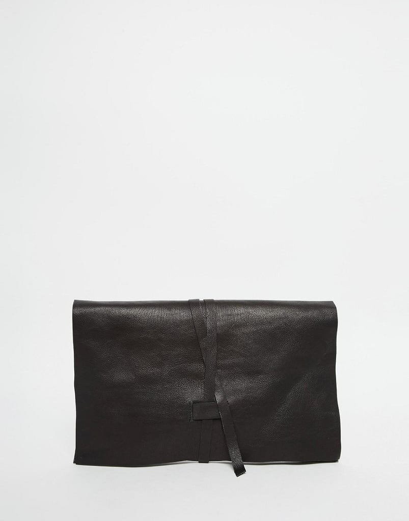Upgrade your mom's clutch with this ultraelegant find. ASOS Leather Tie Clutch Bag ($46)