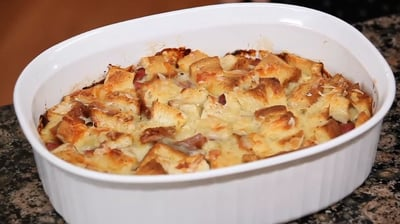 Recipe: Tangy Ham and Cheese Bread Pudding