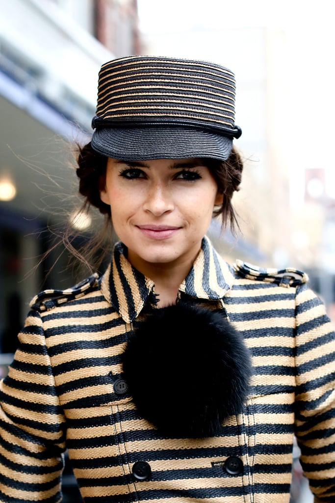Don't let your hat hinder your hair aspirations . . . follow Miroslava Duma's lead and find a fun, twisted style that fits under it.