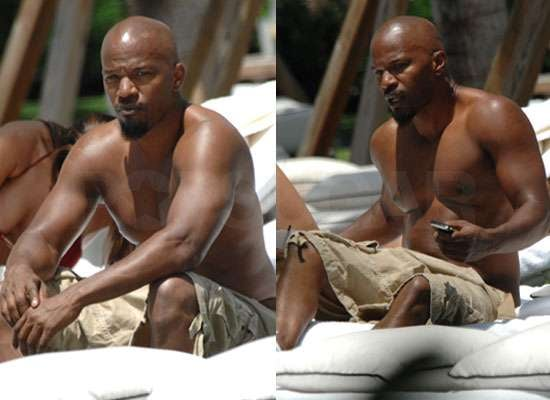 Pictures of Jamie Foxx Shirtless in Miami