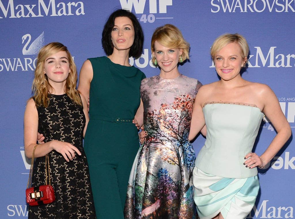Mad Men stars Kiernan Shipka, Jessica Pare, January jones and Elisabeth Moss fronted up at the Women In Film's Crysal + Lucy Awards on June 13.