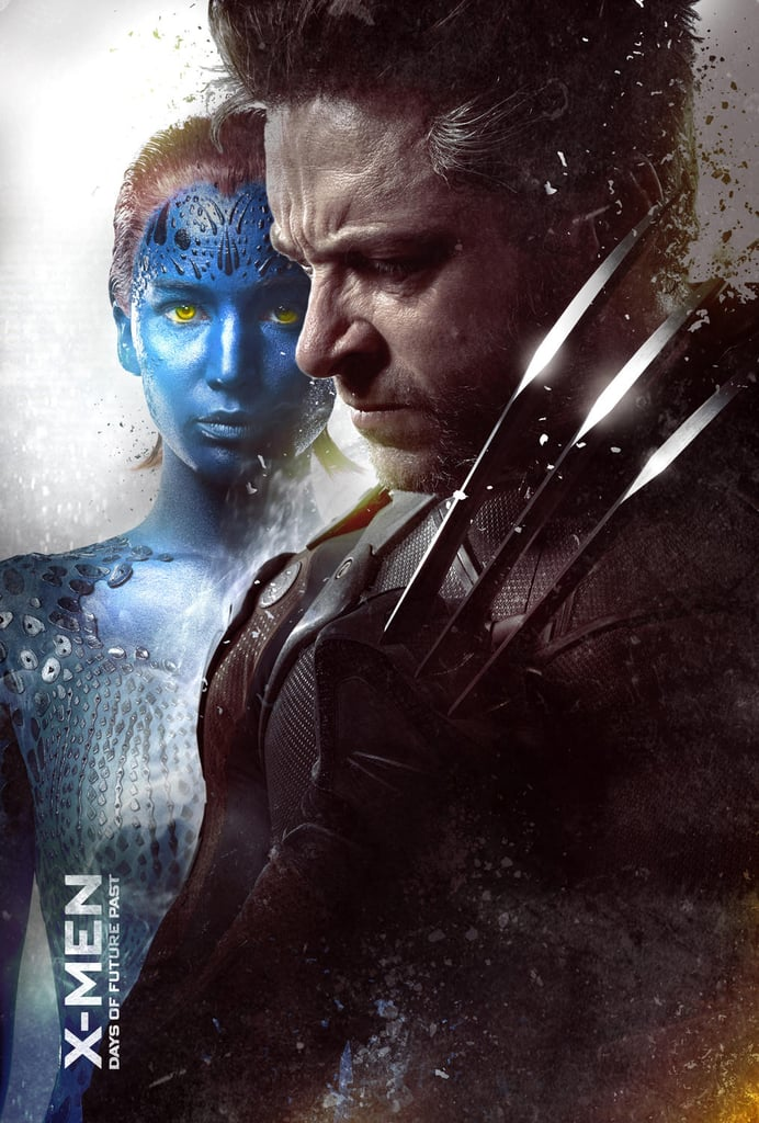 Jennifer Lawrence and Jackman as Mystique and Wolverine.