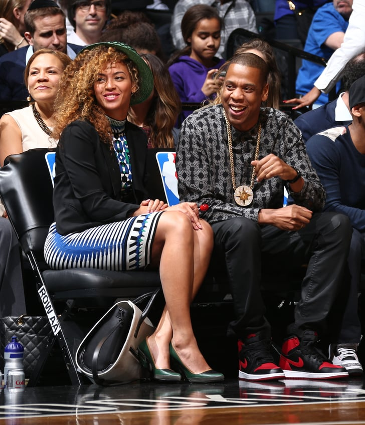 Beyoncé and Jay Z Root, Root, Root For Their Home Teams