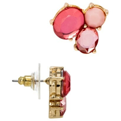 Target 3-Stone Fashion Button Earrings
