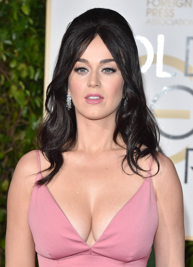 Katy wore quite the low-cut dress to the 2016 Golden Globe Awards in January.