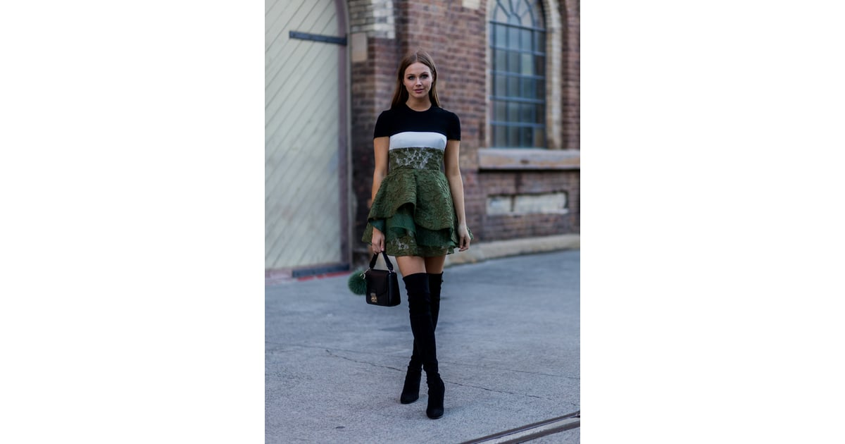 Give Your Fancy Dress A Street Style Update With An It Bag And Boots 73 Styling Hacks To Steal