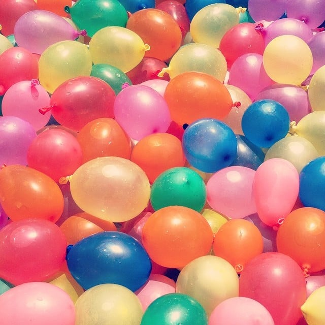 Throw Water Balloons
