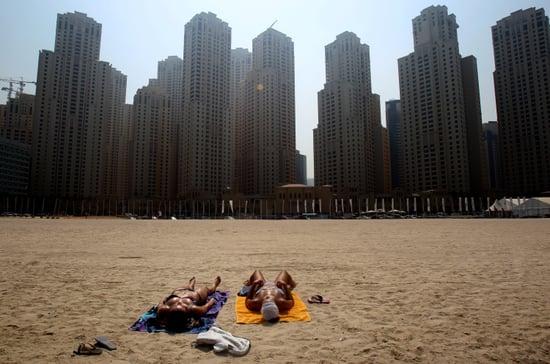 Women Sunbathing in Dubai