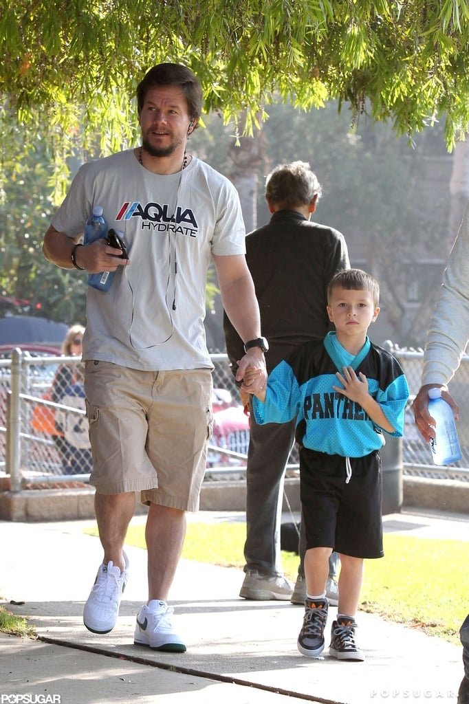Mark Wahlberg and Michael Wahlberg made their way through the park.