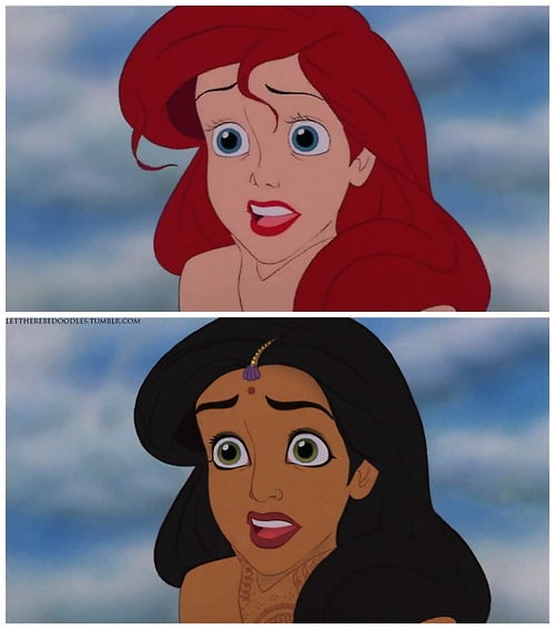 Ariel as a Different Race