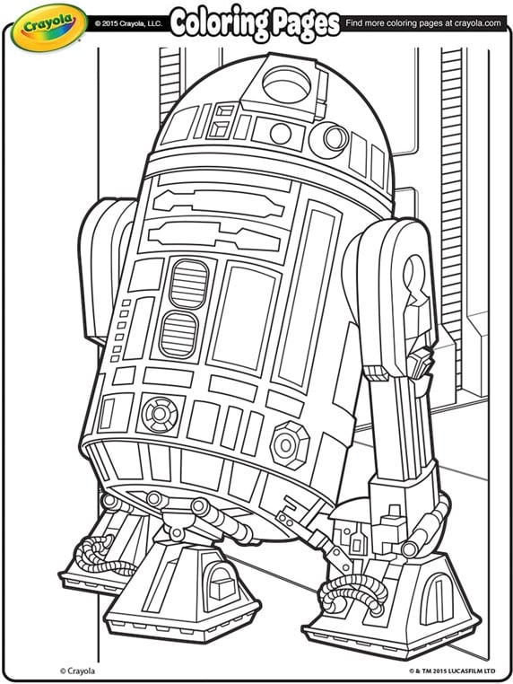 R2d2 Coloring Page R2D2 | 20 Free Colorin...