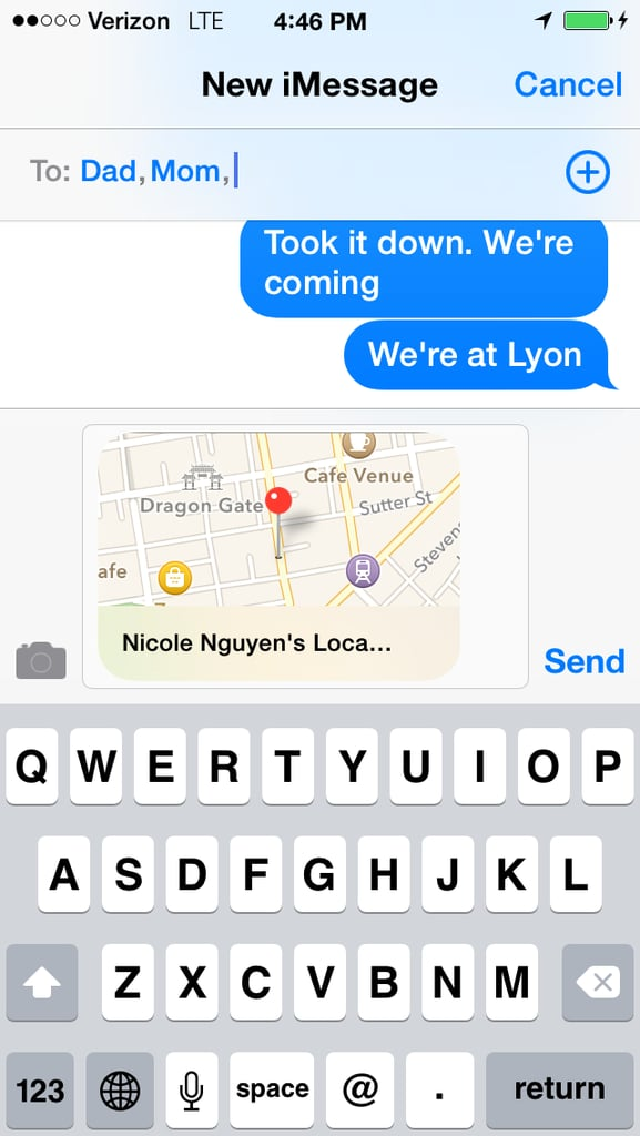 Send a precise location.