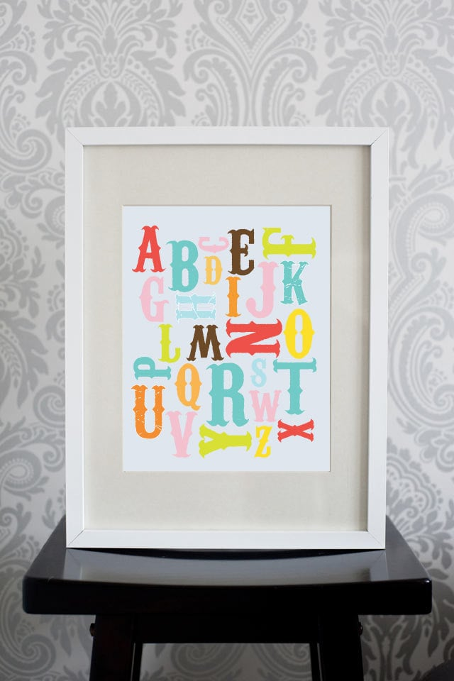 Multicolored Alphabet Print