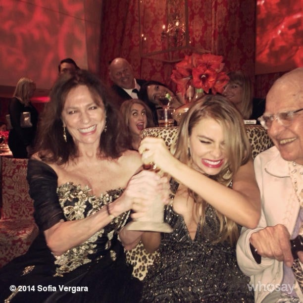 Sofia Vergara fought over Jacqueline Bisset's Golden Globe. Source: Instagram user sofiavergara