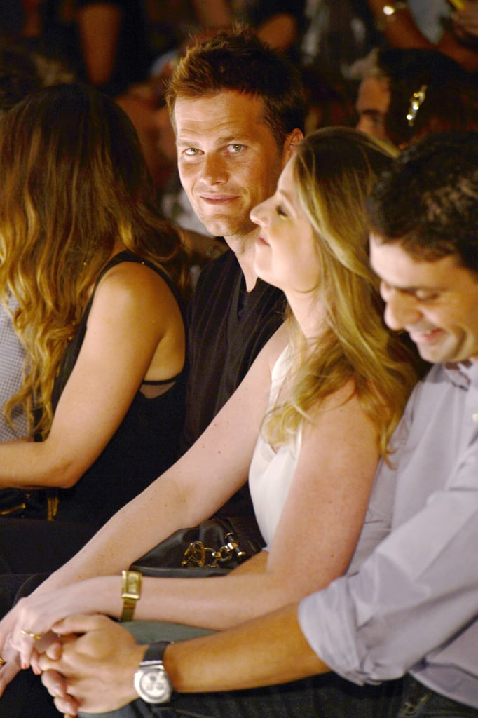 Tom Brady yet again reminded us how much he loves Gisele Bündchen when he cheered her on from the front row of her latest fashion show.