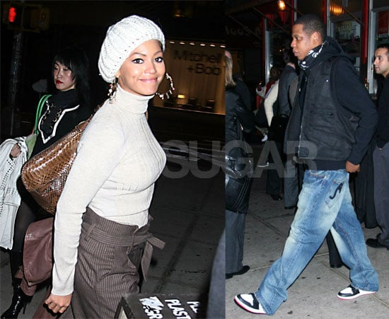 Beyonce and Jay-Z at La Esquina in New York