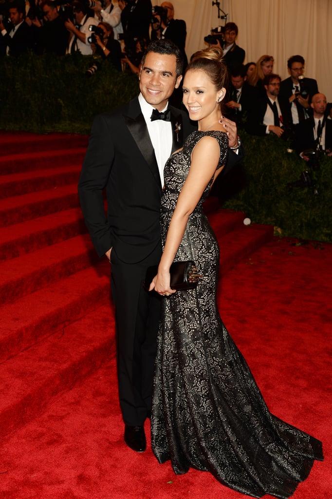 Jessica Alba cozied up to her husband, Cash Warren.