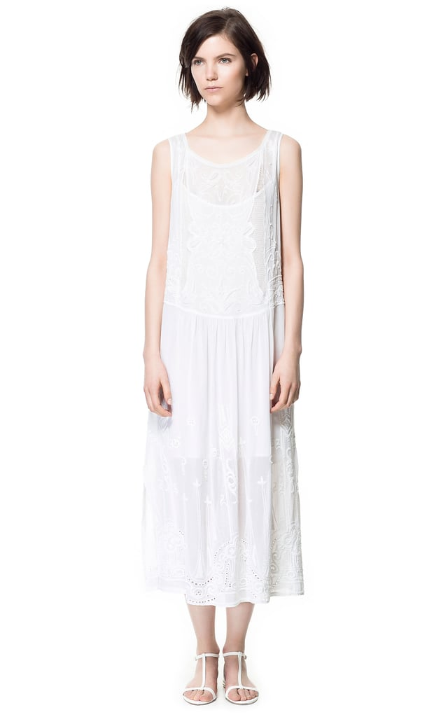 Zara's Embroidered Dress With Lace ($159) is the kind of piece we could see Daisy wearing around the house — and the kind of thing we'd wear all Summer with a pair of brogues to give it a cool tomboy contrast.