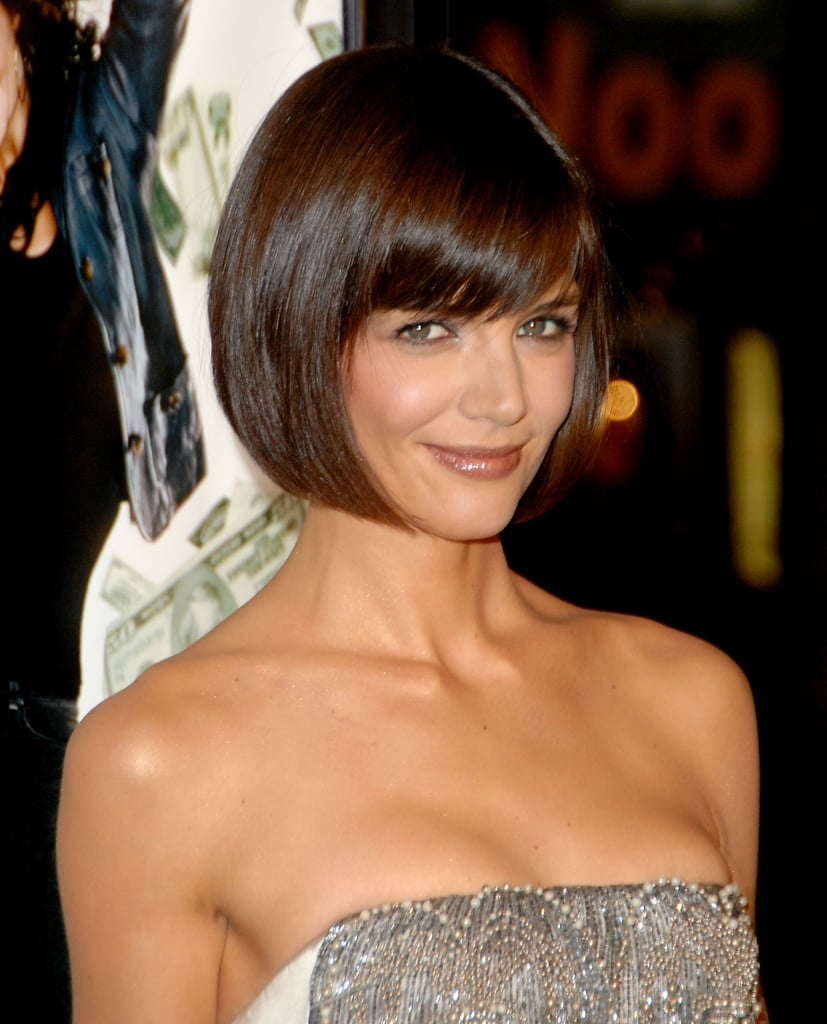 In 2008, Katie had heads turning (and a whole slew of women copying her) when she started wearing her hair in this short, edgy bob.