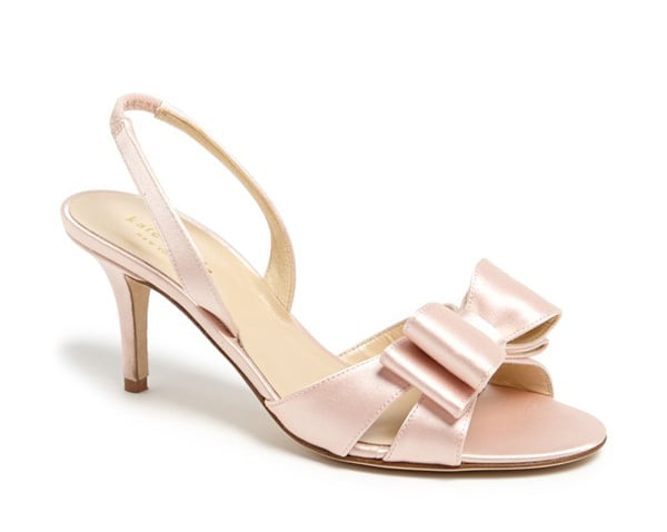 Kate Spade New York pink satin Micah bow sandals ($328)