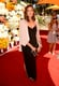 Mandy Moore chose a sleek black maxi dress, topped with a chic off-white tuxedo blazer, for the Veuve Clicquot Polo Classic.