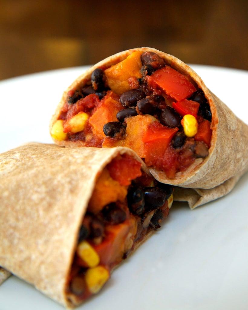 Monday: Roasted Sweet Potato and Black Bean Burrito