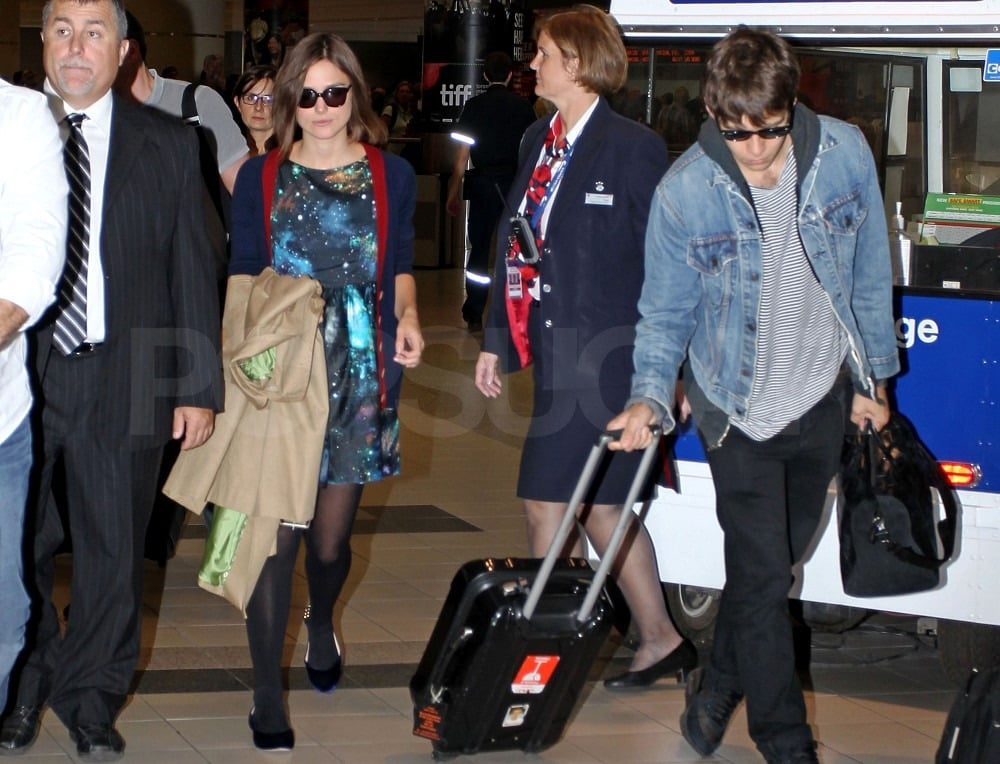 Keira Knightley and James Righton in Toronto.