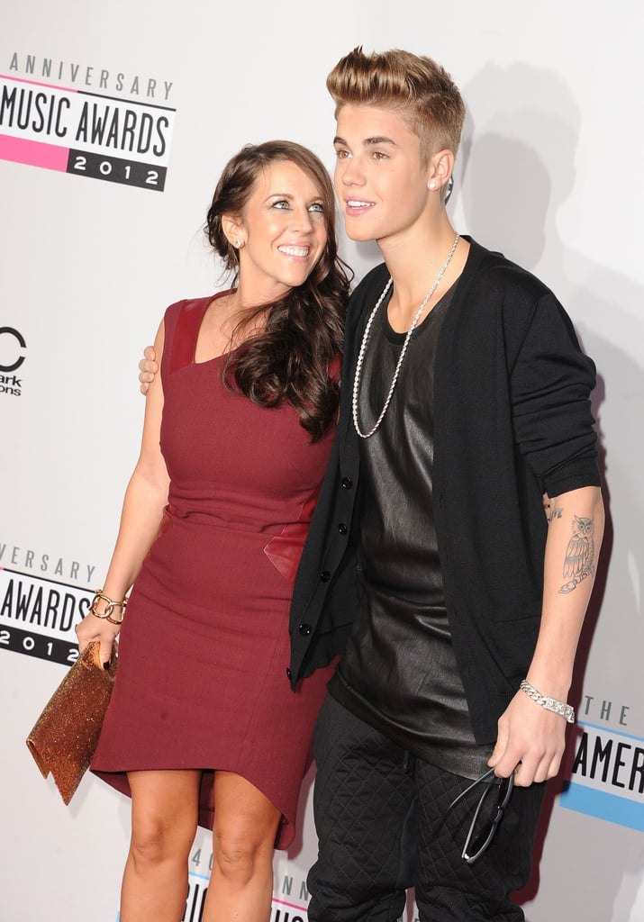 Justin Bieber and his mom hit the red carpet.