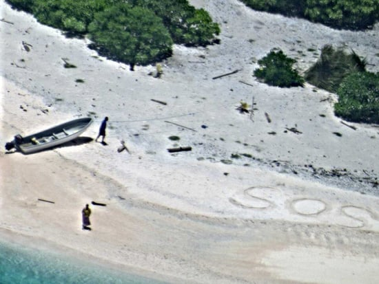 Stranded Boaters Rescued from Uninhabited South Pacific Island After Writing 'SOS' in Sand
