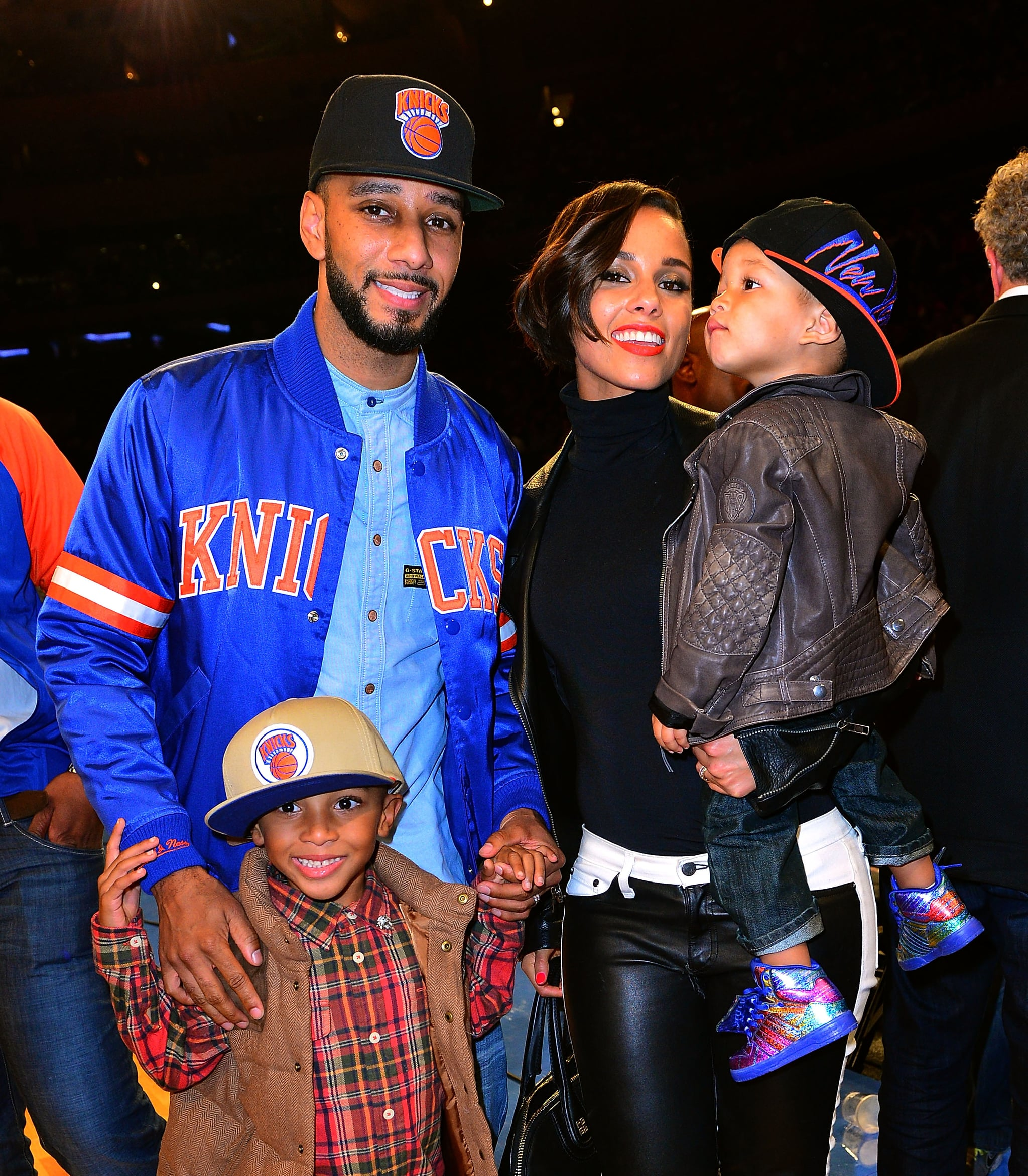 Alicia Keys and Swizz Beatz brought kids Egypt Dean and Kasseem David Dean Jr. along to Madison Square Garden for the NY Knicks vs. Miami Heat game this past November.
