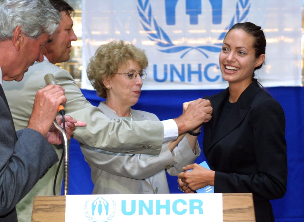 "In August 2001, Angelina Jolie was named a UNHCR goodwill ambassador for refugees. She said of the position, ""We cannot close ourselves off to information and ignore the fact that millions of people are out there suffering. I honestly want to help. I don't believe I feel differently from other people. I think we all want justice and equality, a chance for a life with meaning. All of us would like to believe that if we were in a bad situation someone would help us."""