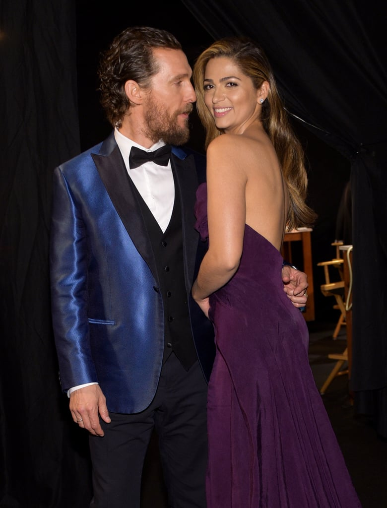Matthew and Camila kept close at the January 2015 Screen Actors Guild Awards in LA.