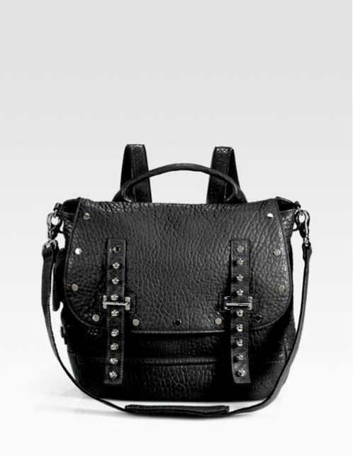 The modern backpack is a totally new shape than its old-school predecessor. Familiarize yourself with Rebecca Minkoff's studded style ($425).