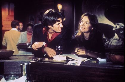 With Warren Beatty in <b>Looking for Mr. Goodbar</b>, 1977. <span style='font-size:10px !important;'>Photo courtesy of <a href=