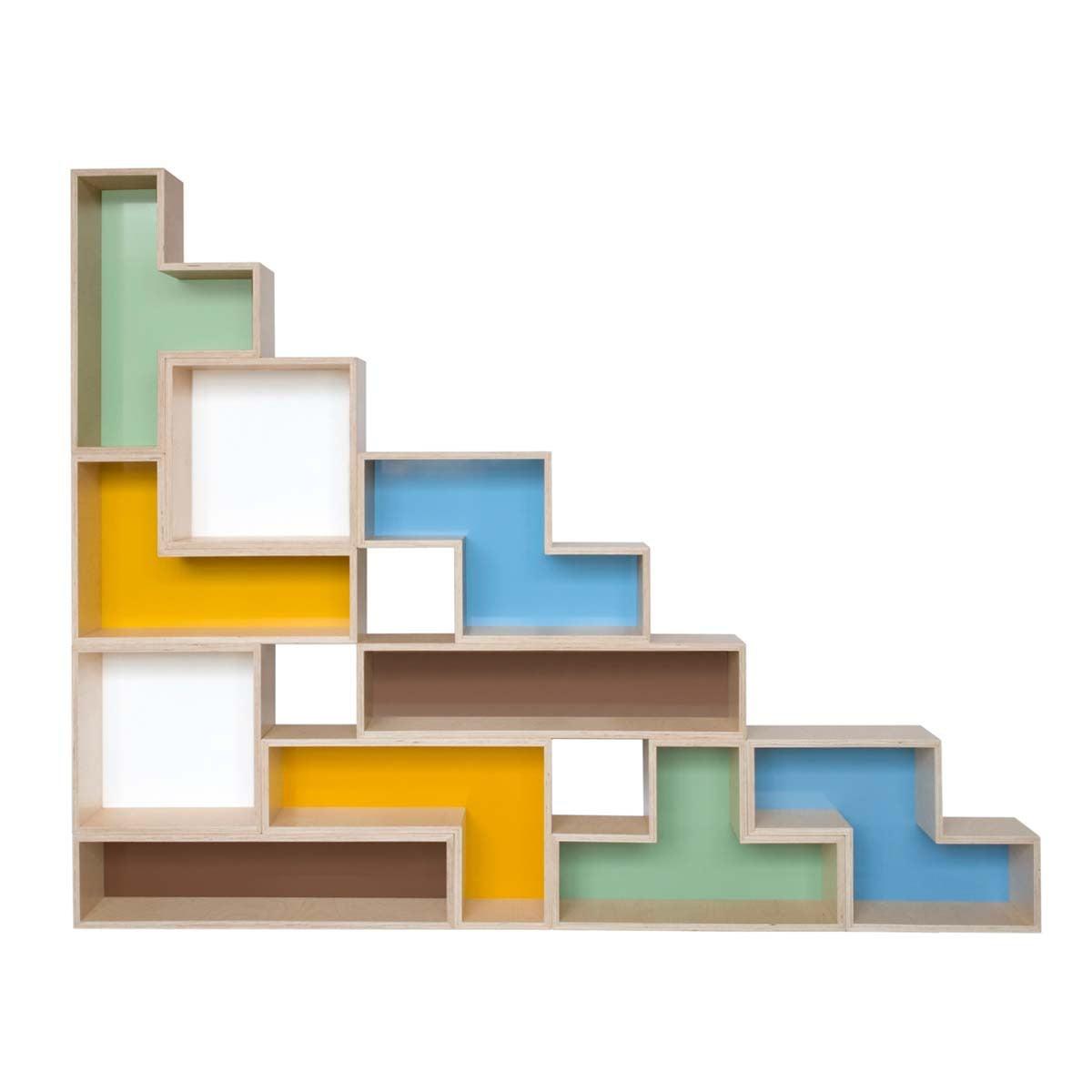 Game room or no game room these tetris inspired blocks for Tetris bookshelf
