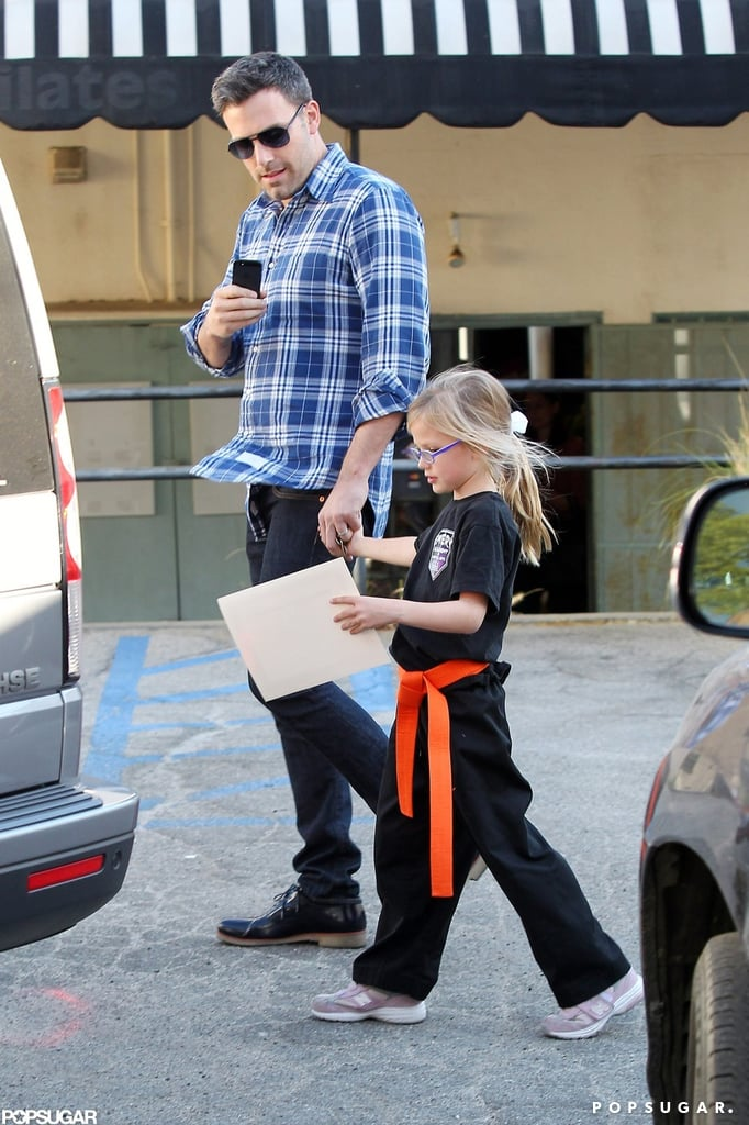 Proud dad Ben Affleck snapped a pic of Violet Affleck as he picked her up from a karate class in October.