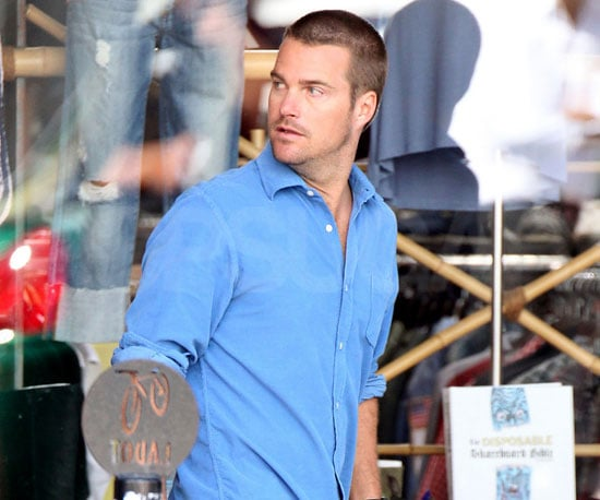 Slide Photo of Chris O'Donnell Looking Hot on the Set of NCIS LA