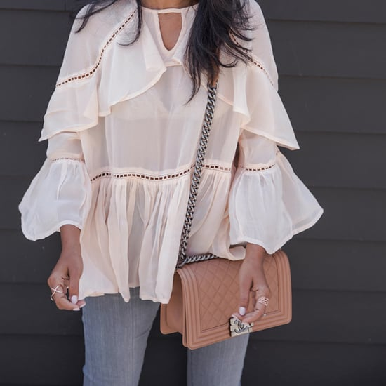 Chic Blush Tops Outfit Ideas